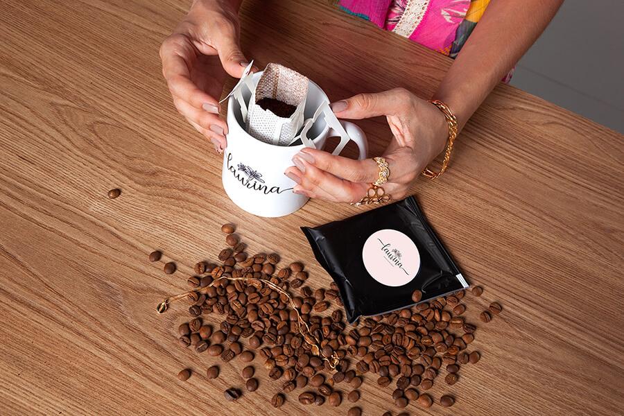 Café Fazenda Pessegueiro personalizado para sua empresa